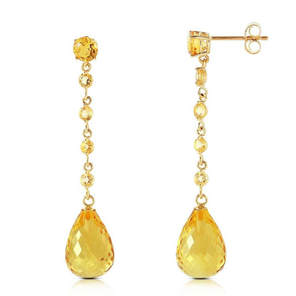 23 Carat 14K Solid Gold New View Citrine Earrings