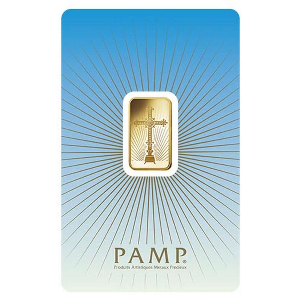 PAMP Suisse 5 Gram Gold Bar - Romanesque Cross