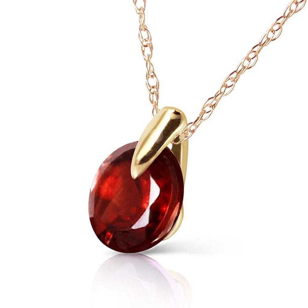 1 Carat 14K Solid Gold Staggering Beauty Garnet Necklace