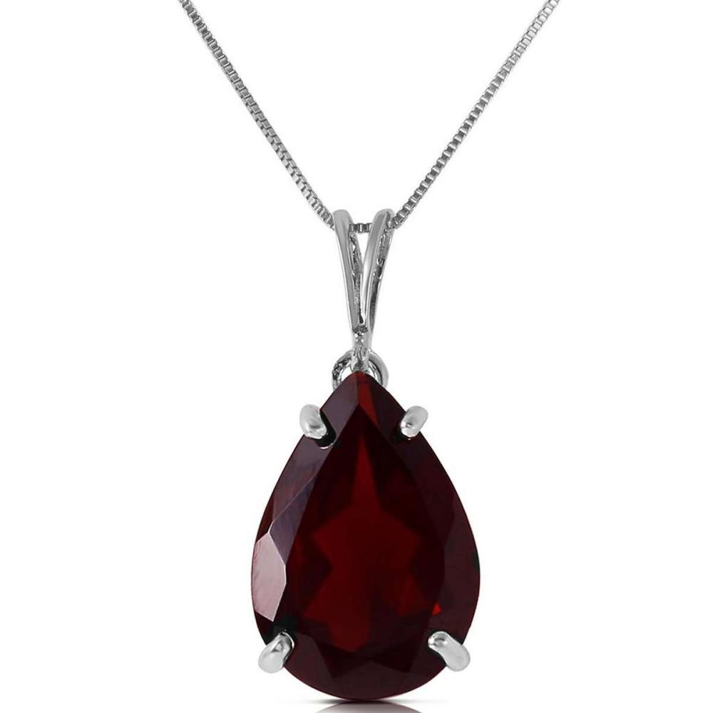 5 CTW 14K Solid White Gold Place Me Garnet Necklace
