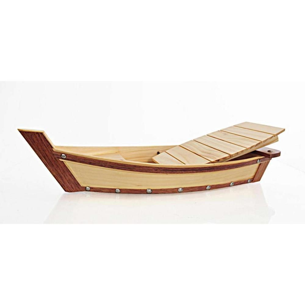 Wooden Sushi Boat Serving Tray Small