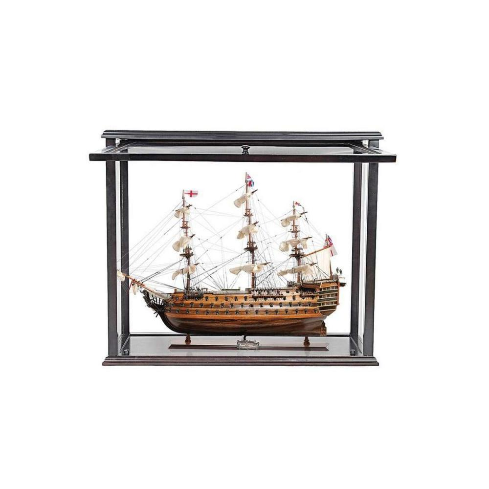HMS Victory Midsize With Display Case Front Open