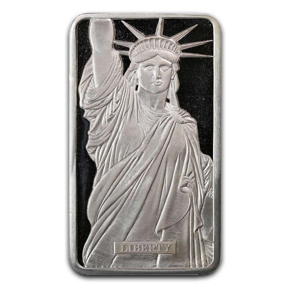 Metals Arts Mint 10 oz Bar - Statue of Liberty MTB Series 1