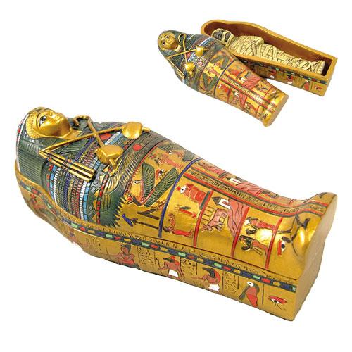 Egyptian Sarcophagus w/ Mummy