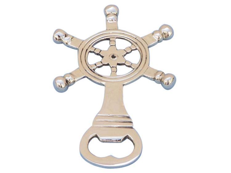 Nautical Solid Brass Ship Wheel Bottle Opener 5