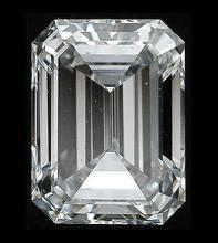 GIA CERT 1 CTW EMERALD DIAMOND F/SI1