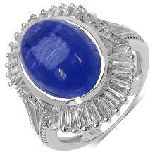 10.26 Carat Genuine Tanzanite .925 Sterling Silver Ring