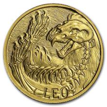 1/10 oz Gold Round Zodiac Series - Leo