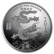 5 oz Silver Round - (2012 Year of the Dragon) #74570v3