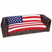 United States Flag Print Fleece Blanket #49149v2