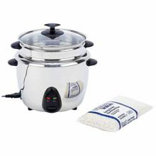 Precise Heat 1.9qt (1.8L) Stainless Steel Interior & Exterior Rice Cooker #49335v2