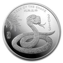 10 oz Silver Round - (2013 Year of the Snake) #74582v3