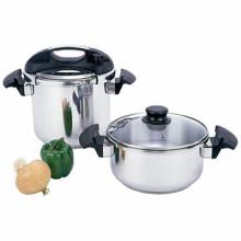Precise Heat 4pc T304 Stainless Steel Pressure Cooker Set #49333v2