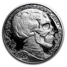 1 oz Silver Round - Hobo Nickel Replica (Skulls & Scrolls)