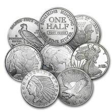 1/2 oz Silver Round - Secondary Market (One piece per lot)