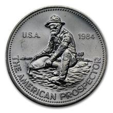 1 oz Silver Round - Engelhard Prospector (1984, Eagle Reverse)
