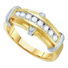 14KT Yellow Gold 0.50CTW DIAMOND FASHION MENS BAND