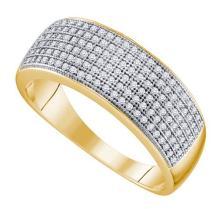 10K Yellow-gold 0.50CT DIAMOND MICRO PAVE MENS BAND