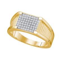 10KT White Gold 0.20CTW DIAMOND MICRO PAVE MENS BAND