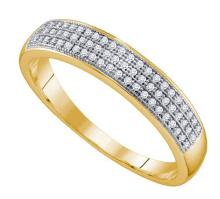 10K Yellow-gold 0.20CTW DIAMOND MICRO PAVE MENS BAND
