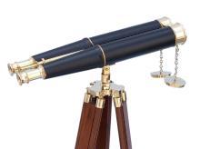 Floor Standing Admiral's Brass/Leather Binoculars 62