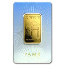 1 oz Gold Bar - PAMP Suisse Religious Series (Am Yisrael Chai!)