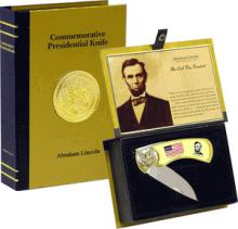 COMMEMORATIVE ABRAHAM LINCOLN DISPLAY KNIFE
