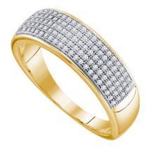 10K Yellow-gold 0.33CTW DIAMOND MICRO PAVE MENS BAND