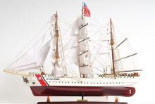 HAND MADE WOODEN US. Coast Guard Eagle E.E. W/COA