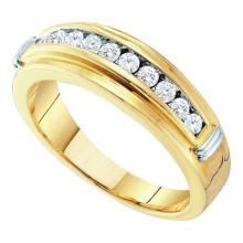 14KT Yellow Gold 0.50CTW DIAMOND MENS FASHION RING