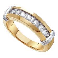 10K Yellow-gold 0.50CT DIAMOND FASHION MENS BAND