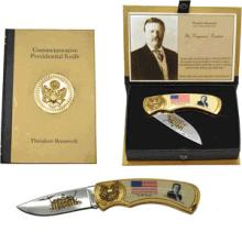 COMMEMORATIVE TEDDY ROOSEVELT DISPLAY KNIFE
