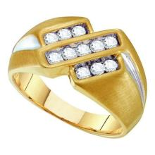 10K Yellow-gold 0.50CTW DIAMOND FASHION MENS RING