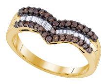 925 Sterling Silver Yellow 0.50CT DIAMOND FASHION RING