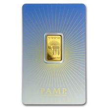 5 gr Gold Bar - PAMP Suisse Religious Series (Am Yisrael Chai!)
