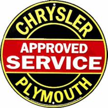 CHRYSLER METAL SIGN