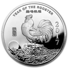 1/2 oz Silver Round - (2017 Year of the Rooster)
