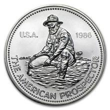 1 oz Silver Round - Engelhard Prospector (1986, Eagle Reverse)