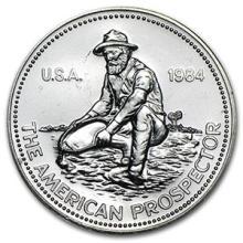 1 oz Silver Round - Engelhard Prospector (1984,