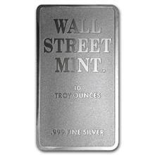 10 oz Silver Bar - Wall Street Mint (Type 2)