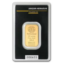 1/2 oz Gold Bar - Argor-Heraeus