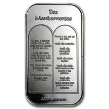 1 oz Silver Bar - Ten Commandments (Portuguese)