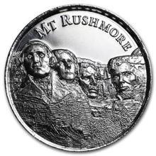 2 oz Silver Round - Mount Rushmore