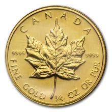 1989 Canada 1/4 oz Gold Maple Leaf BU