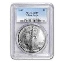 1992 Silver American Eagle MS-69 PCGS