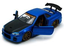 COLLECTIBLE 2002 BLUE AND BLACK NISSAN SKYLINE GT-R DIE