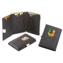 VISOL COMPACT LEATHER WALLET AND CARD HOLDER