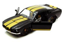 COLLECTIBLE BLACK W/YELLOW STRIPES 1967 SHELBY GT-500 D