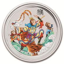 2016 Australia 1 oz Silver Lunar Monkey King Proof (Colorized) #21723v3