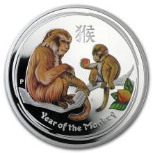 2016 Australia 1 oz Silver Lunar Monkey Proof (Colorized) #21725v3